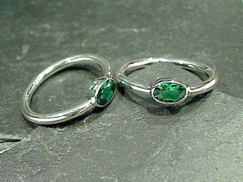 Green Quartz, Sterling Silver Ring, Size 6