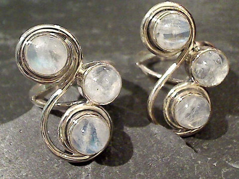 Size 6.25 Moonstone, Sterling Silver Ring