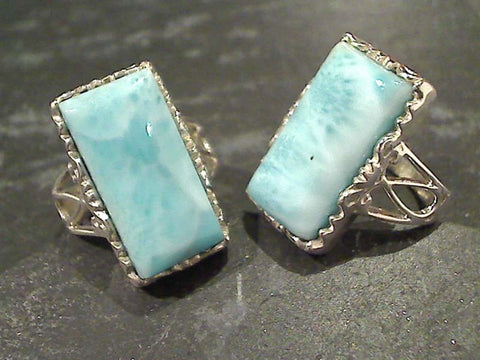 Size 6 Larimar, Sterling Silver Ring
