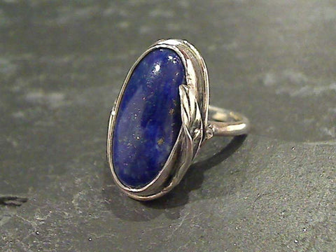 Size 7.75 Lapis Lazuli, Sterling Silver Ring