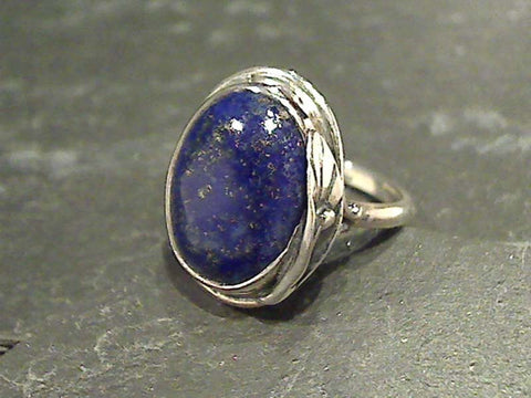 Size 6 Lapis Lazuli, Sterling Silver Ring