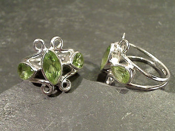 Size 6 Peridot, Sterling Silver Ring