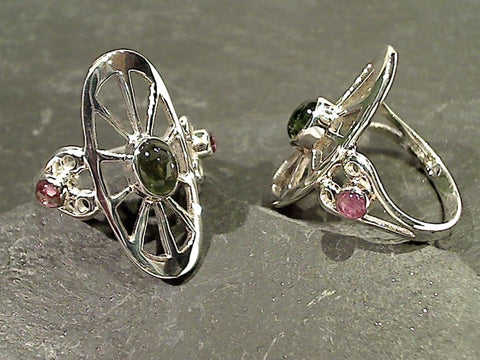 Size 8.5 Tourmaline, Sterling Silver Ring