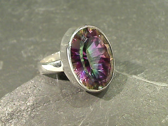 Size 6.25 Mystic Quartz, Sterling Silver Ring