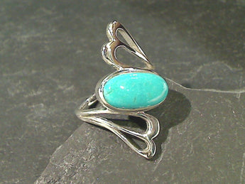 Size 8 Turquoise, Sterling Silver Ring
