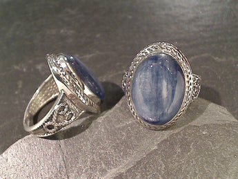 Size 6 Kyanite, Sterling Silver Ring