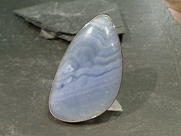 Calcite, Fine Sterling Adj Size Ring