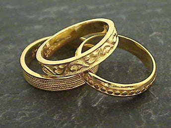 Size 5.75 24K Vermeil 3 Band Stacker Ring