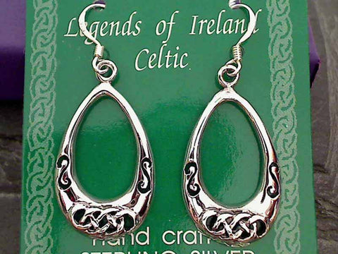 Celtic Design Earrings, Sterling Silver