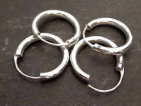 18mm X 3mm Sterling Silver Hoops