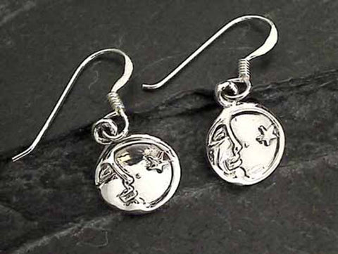Sterling Silver Moon and Stars Earrings