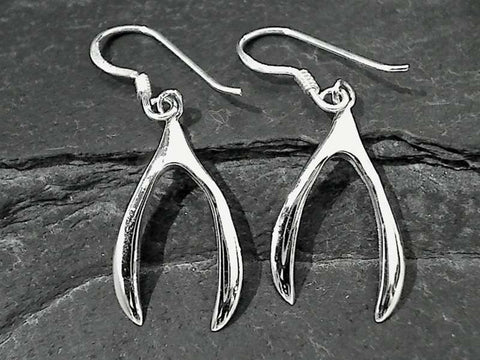 Sterling Silver Wish Bone Earrings