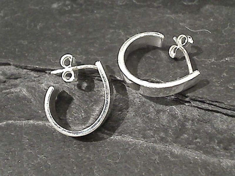 Sterling Silver Post Hoops 15 x 13MM