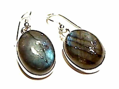 Labradorite, Sterling Silver Earrings