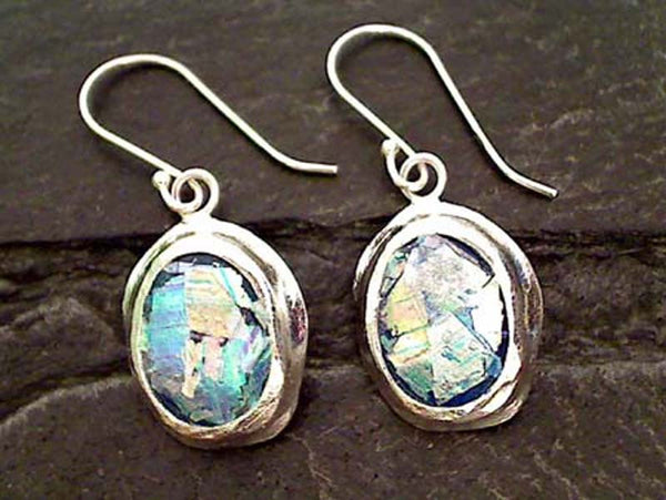 Roman Glass, .925 Earrings