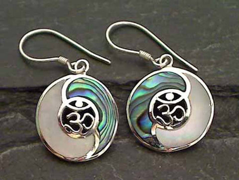 Abalone, M.O.Pearl, Sterling Silver Earrings