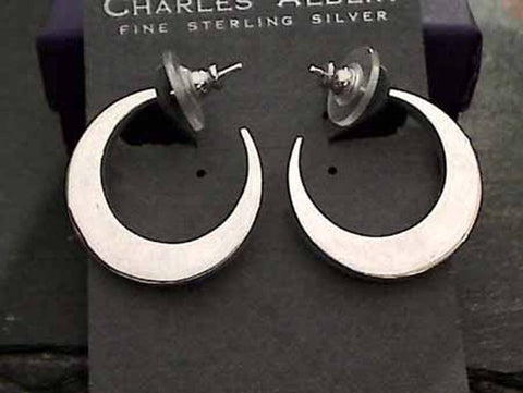 Sterling Silver Earrings by Charles Albert