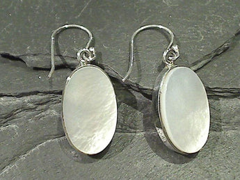 Mother of Pearl, Sterling Silver Earrings