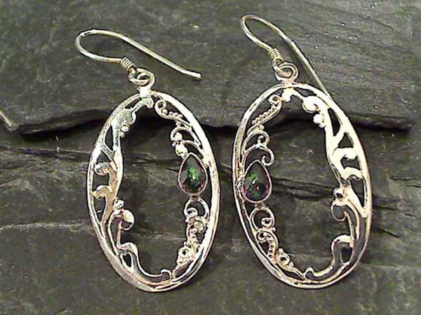 Mystic Topaz, Sterling Silver Earrings