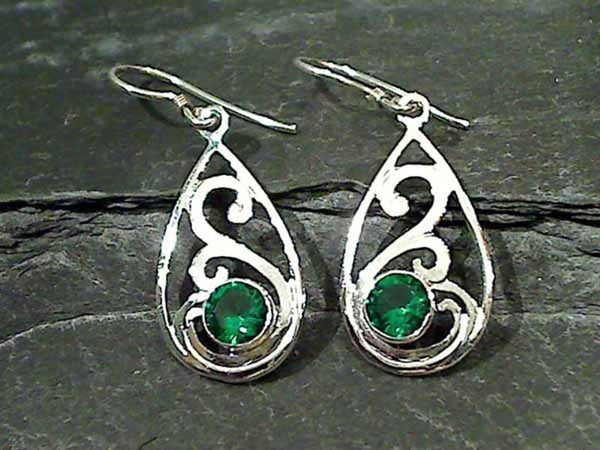 Green Quartz, Sterling Silver Earrings