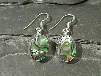 Abalone, Sterling Silver Earrings