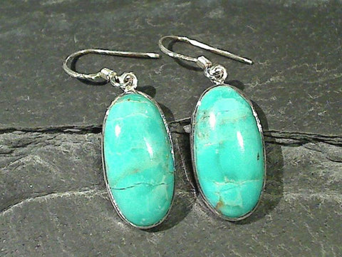 Kingman Turquoise, Sterling Silver Earrings
