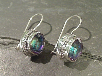 Mystic Quartz, Sterling Silver Earrings