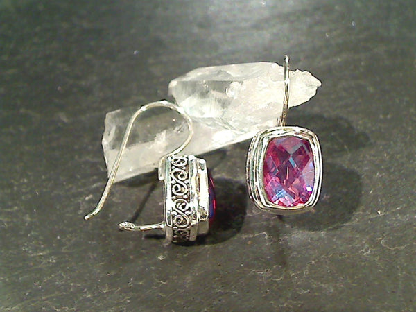 Rainbow Passionista Quartz, Sterling Earrings