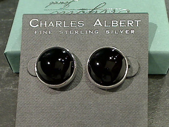 Black Onyx, Fine Sterling Earrings