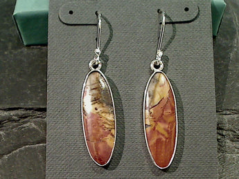 Red Creek Jasper, Fine Sterling Earrings
