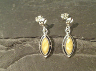 Copal, Sterling Silver Earrings