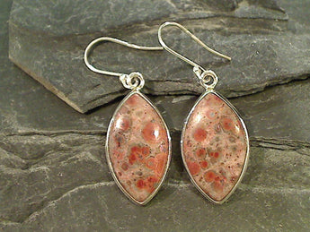 Jasper, Sterling Silver Earrings