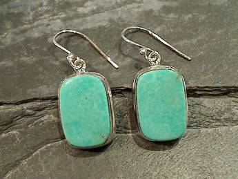 Turquoise, Sterling Silver Earrings