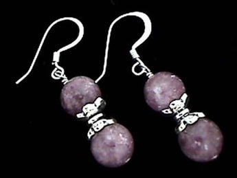 LEPIDOLITE AND .925 EARRINGS