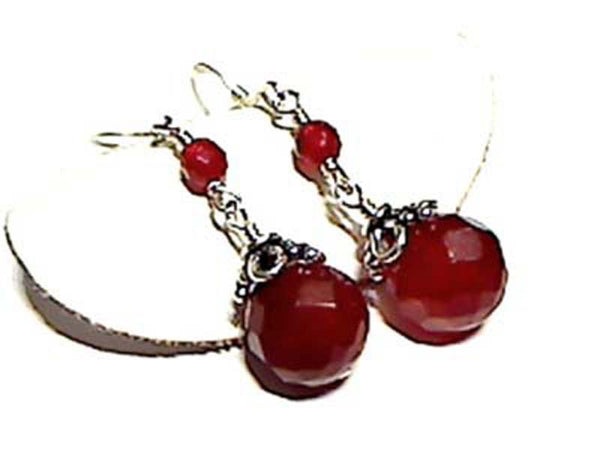 CARNELIAN AND .925 EARRINGS