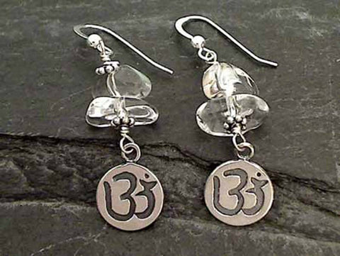 Clear Quartz, Sterling Silver Earrings