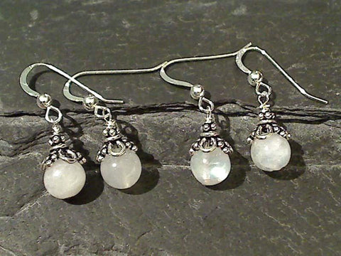 Moonstone, Sterling Silver Earrings