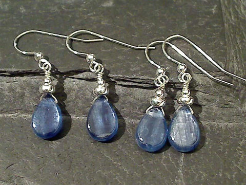 Kyanite. Sterling Silver Earrings