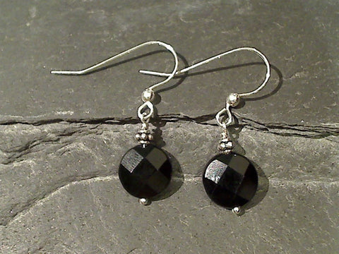 Black Onyx, Sterling Silver Earrings