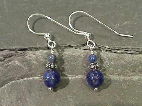 Lapis Lazuli, Sterling Silver Earrings