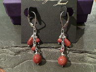 Goldstone, Sterling Silver Earrings