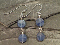 Kyanite, Sterling Silver Earrings