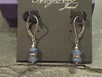 Kyanite Earrings Sterling Silver Leverback