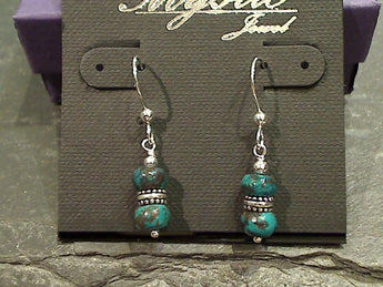 Chrysocolla, Sterling Silver Earrings
