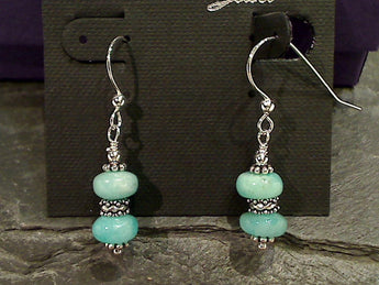Amazonite, Sterling Silver Earrings