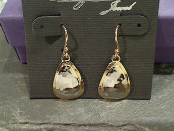 Sterling Silver, Gold Plated Earrings