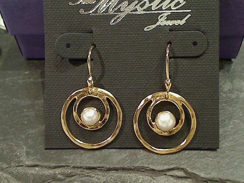 Pearl, Gold Plated Earrings