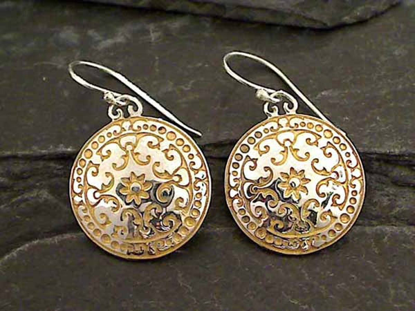 24K Gold Vermeil, Sterling Silver Earrings