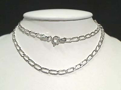 "16"" Sterling Silver 3mm Open Link Chain"