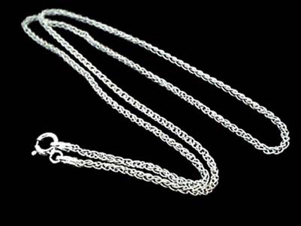 "16"" THIN WOVEN CHAIN - STERLING SILVER"